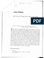 CLIFFORD, James. on Collecting Art and Culture