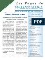 Pages de jurisprudence sociale n°21
