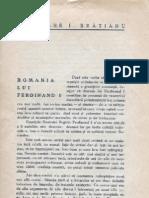 Gh I Bratianu, Romania Lui Ferdinand I