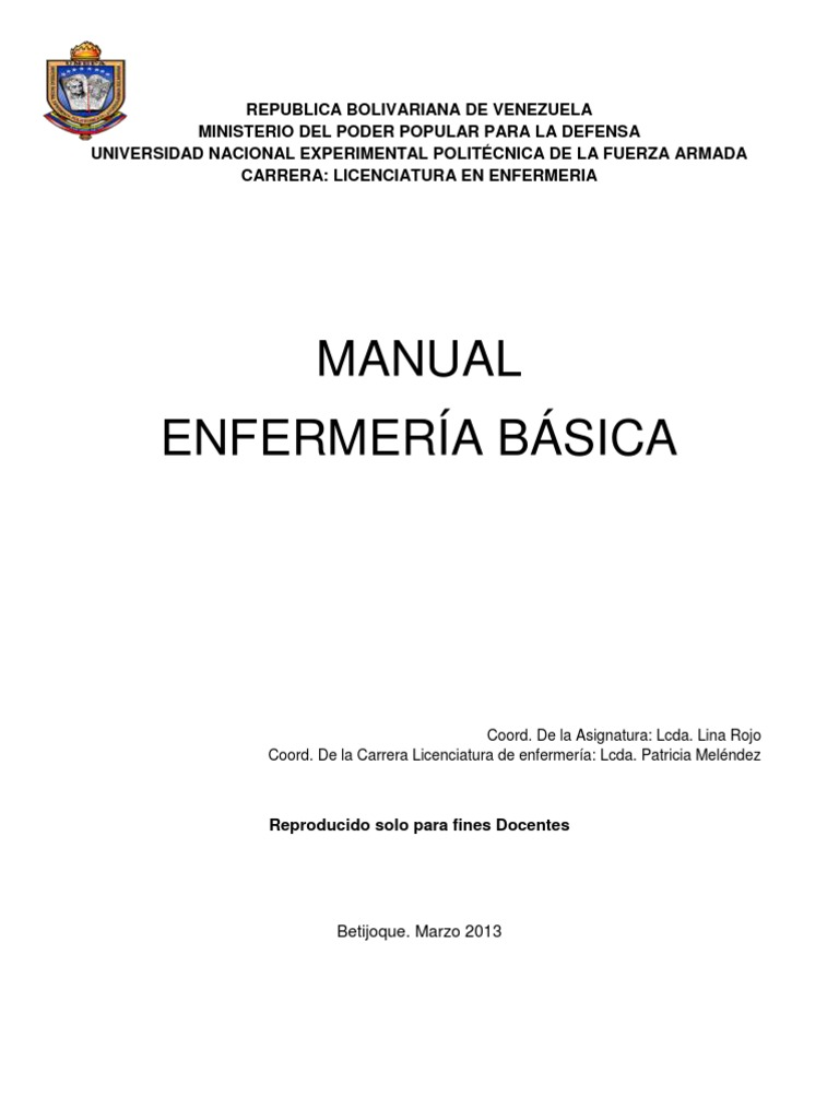 Manual Enfermeria Basica