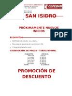 Inicio de Clases Cajero Promotor de Servicios Bilingue Sede San Isidro