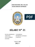 Syllabus Informatica Contable i