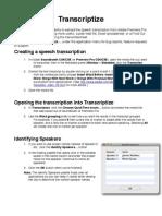 Transcriptize - Help