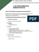 Manual de Procedimientos Administrativos FHPA