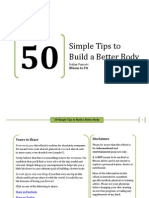 50 Simple Tips to Build a Better Body