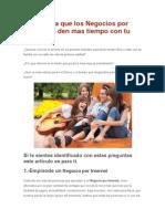 5 Tips Para Que Los Negocios Por Internet Te Den Mas Tiempo Con Tu Familia