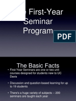 UC Davis First-Year Seminar Presentation