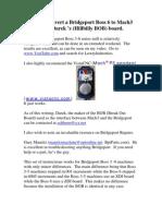How to Convert a Bridgeport Boss 6 to Mach 3
