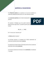 Reacción química y ecuaciones químicas