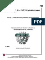FUNCIONAMIENTO, OPERACIÓN Y PRUEBAS DE