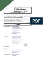Advisory Retail Pricelist 2013