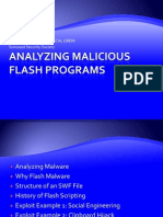 Malware Analysis of Flash Content
