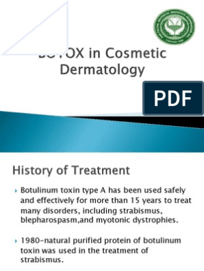 BOTOX Lecture   Botulinum Toxin   Diseases And Disorders