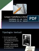 Enseñanza de las tipologías textuales en la  Educación