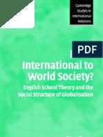 Barry Buzan - From International to World Society