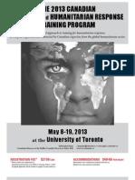 2013 Canadian Disaster and Humanitarian Response Training Program