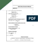 Directional Drilling Formulae
