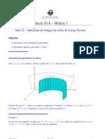 aplicação de  massa e centro de massa de um fio delgado