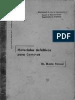 Materiales Asfalticos Para Caminos - Dr. Eberto Petroni