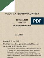 Malaysia Territorial Water 25 March 2013