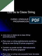 Uso de La Clase String