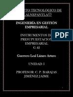 Unidad 5 Instrumentos de Presupuestacion