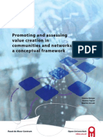 Promoting and assessing value creation in 