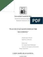 Plan de Evacuacion