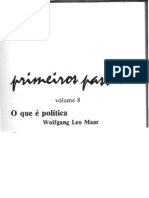 o que é política primeiros passos parte 01