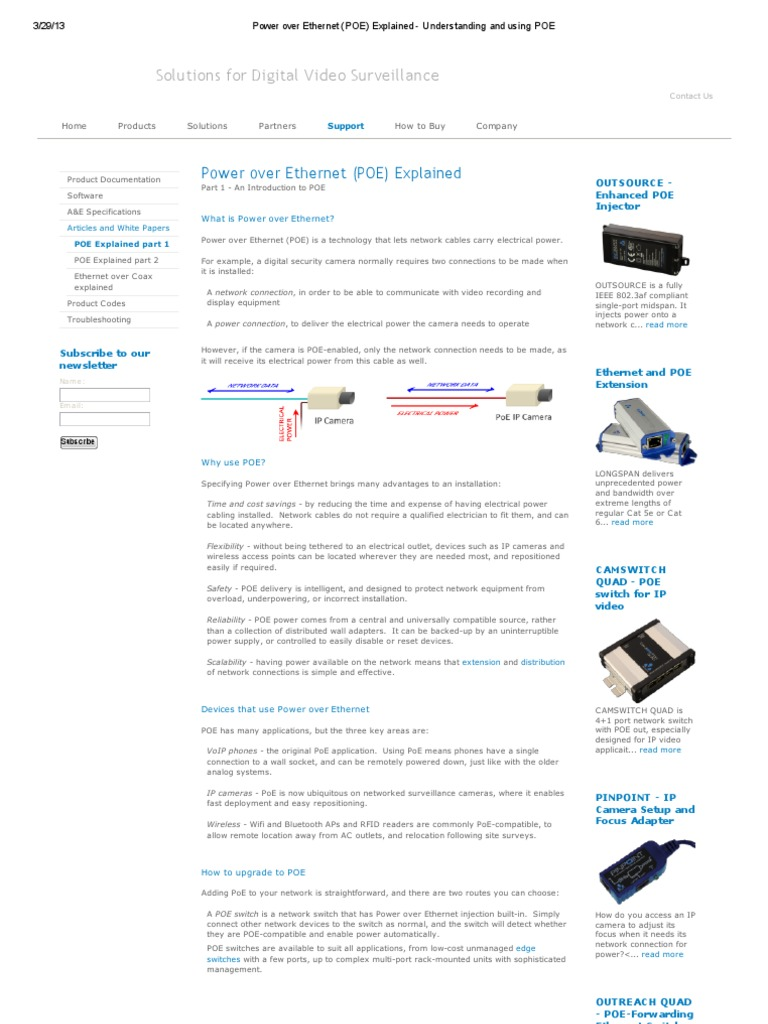 Power Over Ethernet Poe Explained Understanding And Using Wiring Diagram How Do I My Camera Network Switch