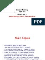 Predictability-Chaos-Lorenz Attractor MEA719 Lec4 Jan28 2009