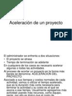 Aceleración de un proyecto