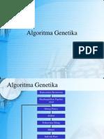 Kecerdasan Buatan Chapter 11-12-13 Algoritma Genetika