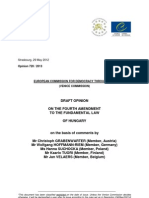Venice Commission draft opinion on Hungary's fourth constitutional amendment