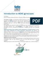 Introduction to MEMS Gyroscopes