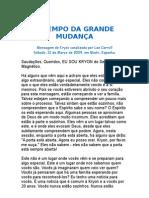 O TEMPO DA GRANDE MUDANÇA - Kryon