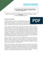 Propuesta Espacios Nacionales EL SALVADOR - HABITAT III