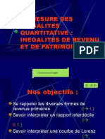 diaporama inegalités decile et lorentz 2008-2009
