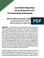 Reinterpreting the Myers-Briggs Type Indicator