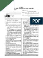 UGC NET June 2012 Performing Art Question Paper - Paper II
