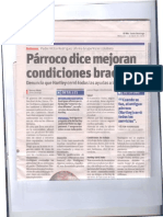 El Dia article printing Father Victor Rodriguez' opinion of Father Hartley's work in the Dominican Republic