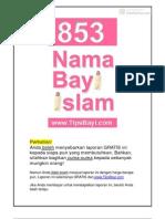 #0009 - 853 Nama Bayi Islam