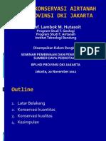 Upaya Konservasi Airtanah Di Provinsi Dki Jakarta_lambok Hutasoit