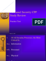 Personnel Security CPP Study Review