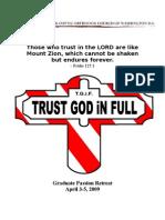 Graduate Passion Retreat Booklet