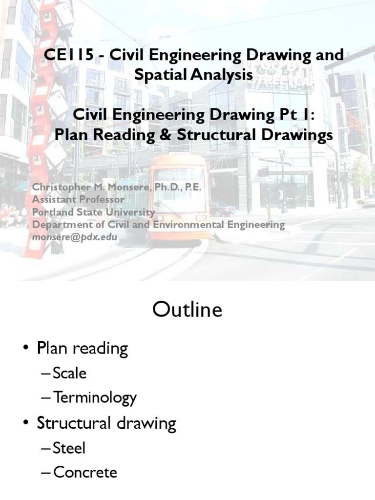 Civil Engineering Drawingpdf Welding Structural Steel