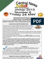 Newsletter Summer 6 2013