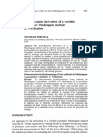 Hydrodynamic Derivation of a Variable Parameter Muskingum Method