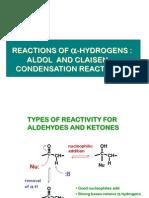 Aldol and Claisen Condensations