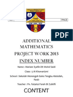 Additional Mathematics 2013 - Fini